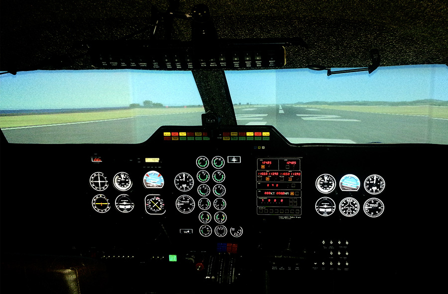 Aviosimulatora Softek Sim kabīne.