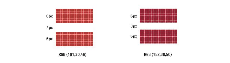 Kreisajā pusē: latvia.eu oriģinālā ikona. Pikseļu attiecība ir 3:2:3. Labajā pusē: Latvijas karogs ar pikseļu attiecību 2:1:2, iestrādāts ikonas izmērā.