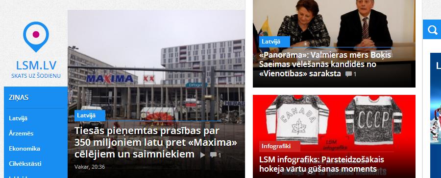 lsm.lv — Latvijas Sabiedriskais Medijs. Sākumlapa.