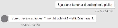 Svarīga saruna Google Hangouts.