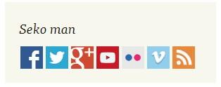 RSS ikona manā blogā izvietojusies labajā pusē, uzreiz aiz visiem sociālajiem tīkliem.