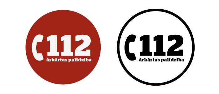 112 ārkārtas palīdzība logo. Mr.Serge versija.