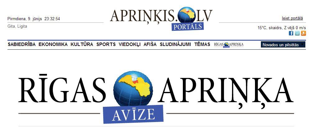 Rīgas apriņķa portāls. Apriņķis.lv jaunais logo.