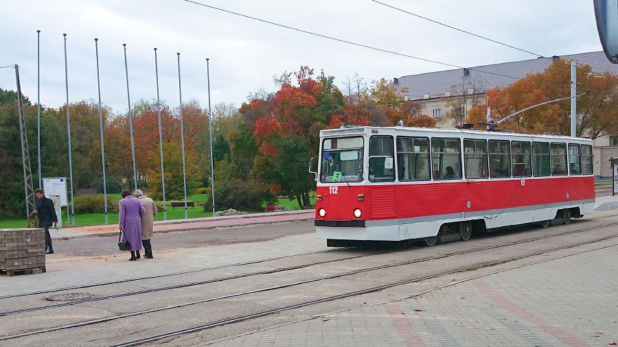 Gluži nejauši izdevās noķert Daugavpils vidējas paaudzes tramvaju ar zīmīgo numuru 112. Izliets glābšanas dienesta sliežu transportlīdzeklis. Pamanīju, ka biju to paguvis noķert jau pirms gada.