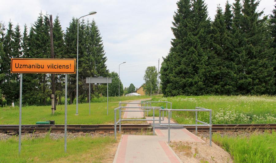 Augšlīgatne. Gājēju pāreja pār dzelzceļu. Foto: Veronika Simoņenkova.