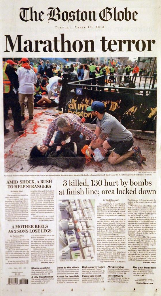 SND sudraba medaļa. Boston Globe maratona terorakta atspoguļojums.