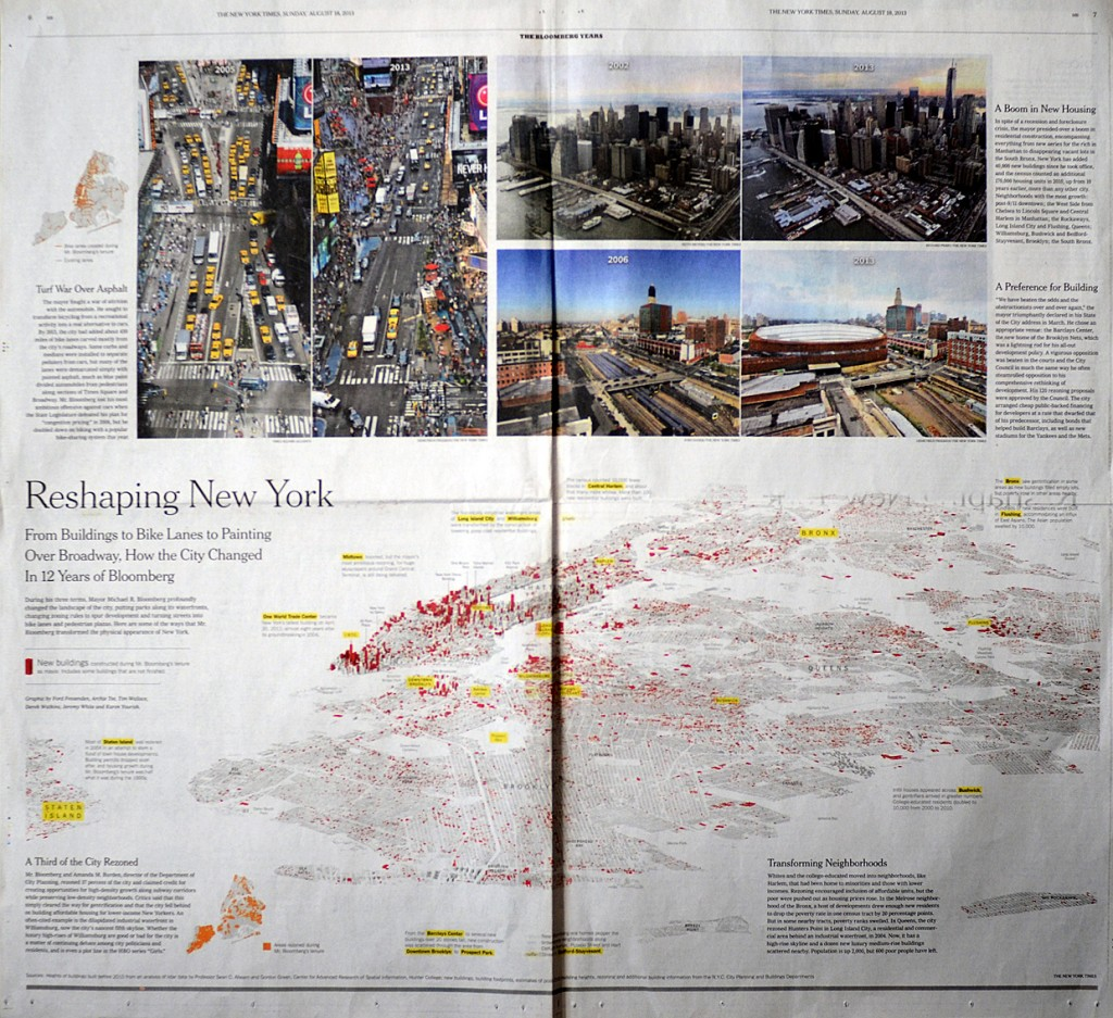 SND sudraba medaļa. The New York Times — Reshaping New York atvērums.