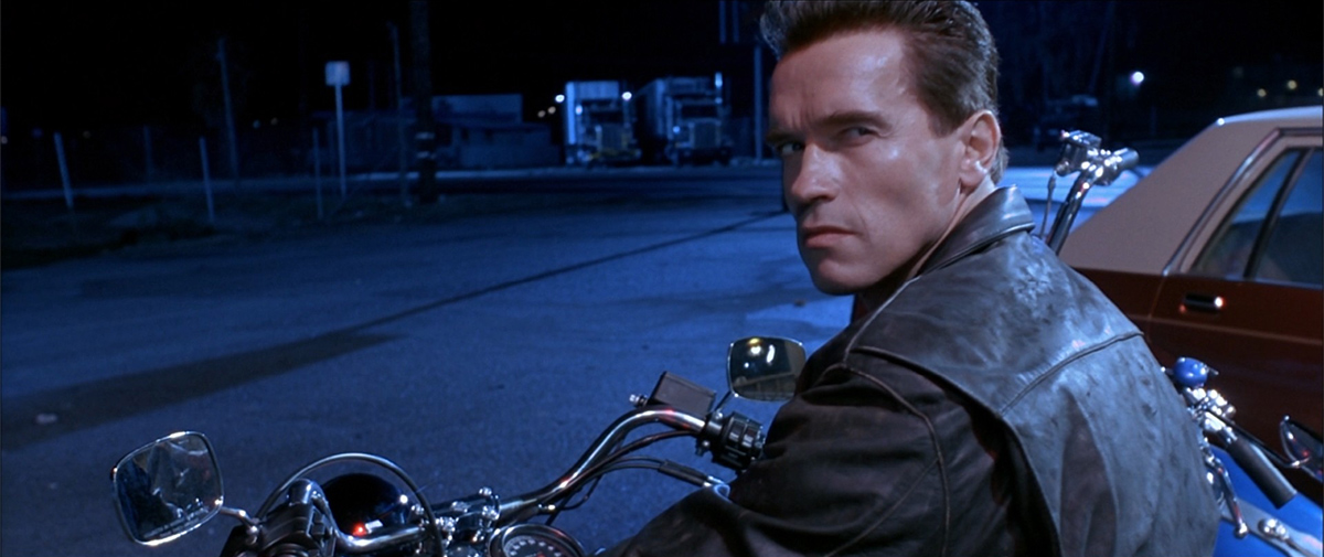 Kadrs no filmas «Terminator 2: Judgment Day».
