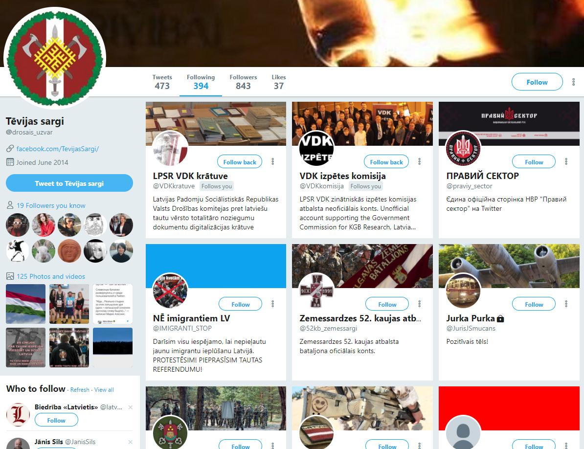 Lietotāji, kuriem seko Tvitera konts @drosais_uzvar