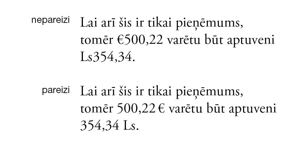 Atstarpes lietošana saīsinājumiem, ja tie ir tikai latviešu valodā lokāli pieņemti.