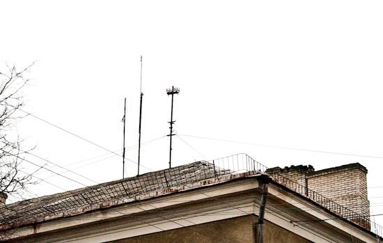 Daugavpils mājas tipiskais jumts.