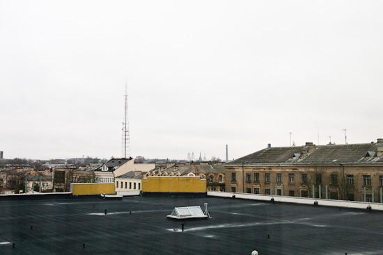 Skats no viesnīcas Latgola loga.