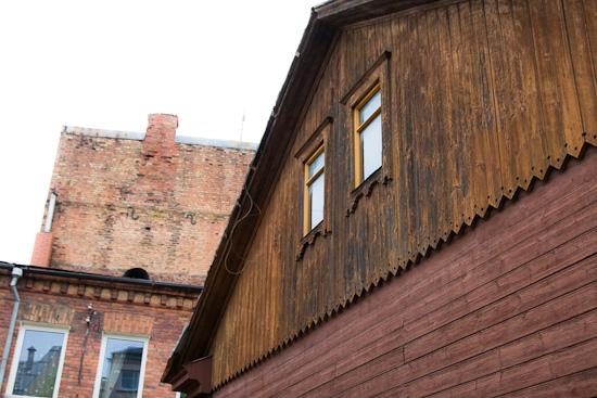 Koka arhitektūra Daugavpilī.