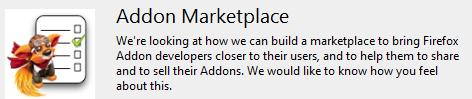 Firefox 4 addons Marketplace aptauja.