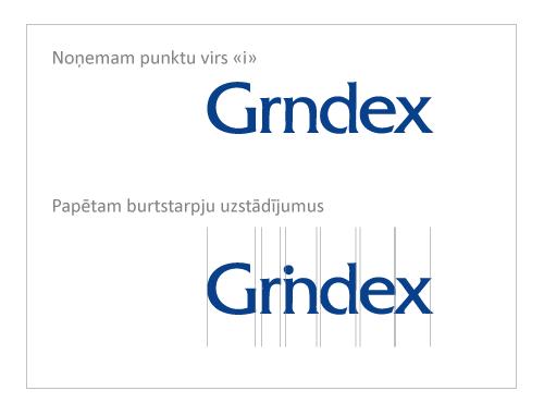 Grindex corporate identity logo meikapošana