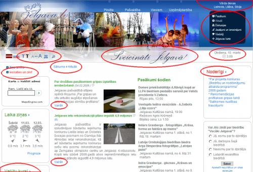 Jelgava.lv mājaslapā atrastās problēmas