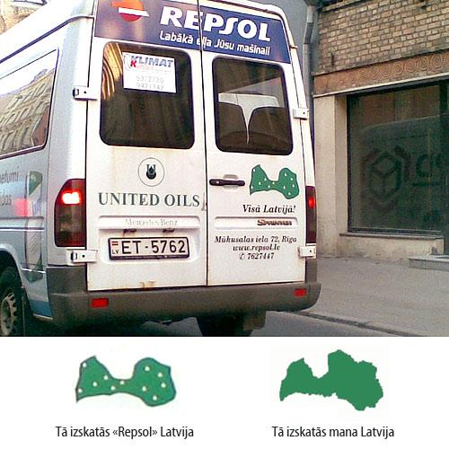 Kā izskatās Latvija Repsol un manā skatījumā