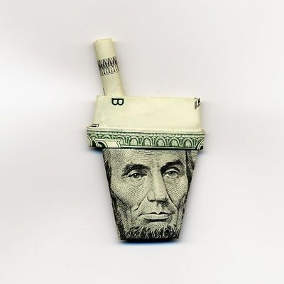 moneygami, U.S. dollar