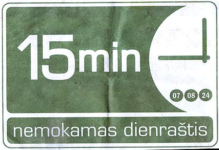Nemokāmais laikraksts 15min