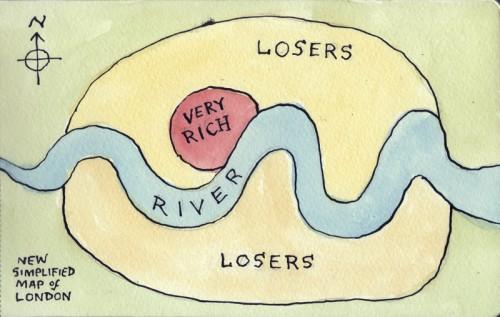 Vienkāršotā Londonas karte