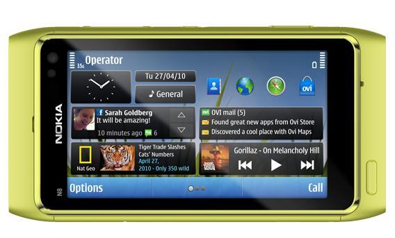 Nokia N8 green.