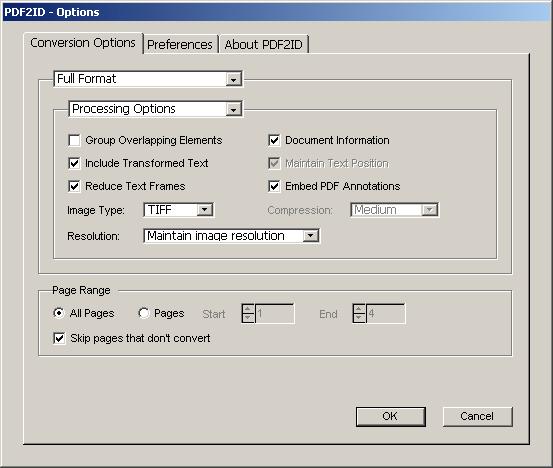 PDF2ID interface