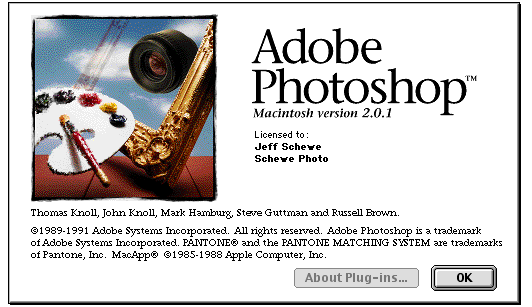 Photoshop 2 splash screen