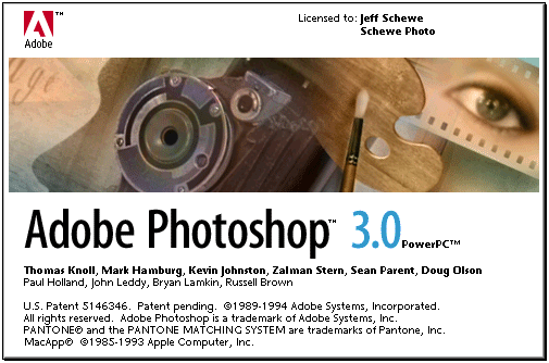 Photoshop 3 splash screen