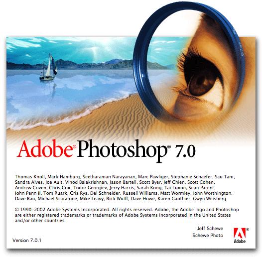 Photoshop 7 splash screen
