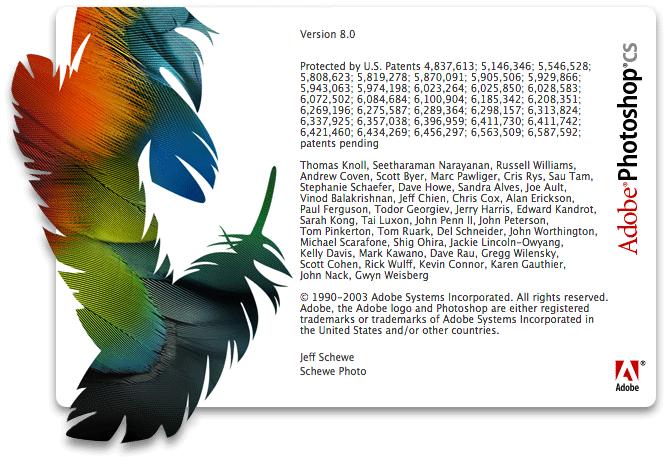Photoshop 8 (CS) splash screen