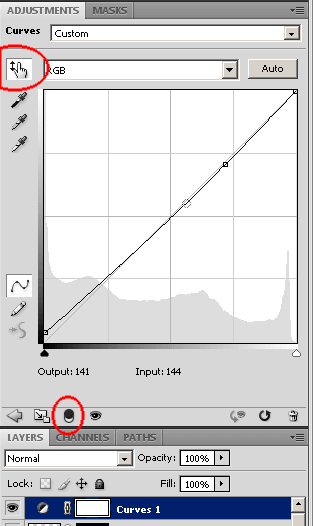 Photoshop CS4 adjustments Curves