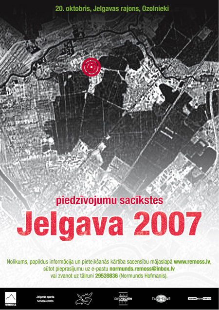 Remoss piedzīvojumu sacīkstes Jelgava 2007 plakāts