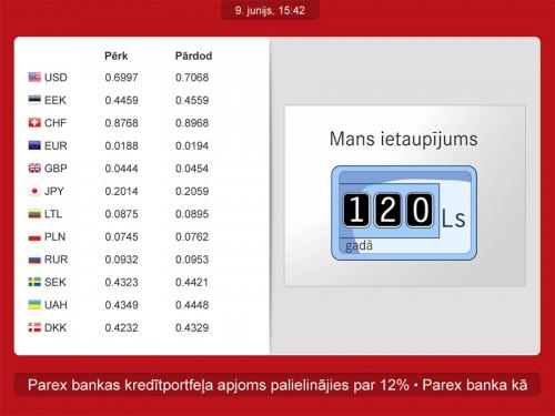 Parex rates terminal original