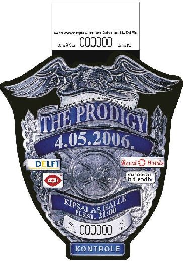 The Prodigy ticket design