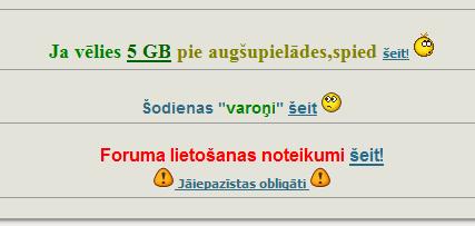 Tekstu saitēšanas piemērs no kāda torrentu trekera.