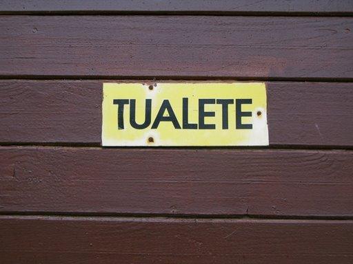 Tualete. Zolotaja Sigulda.