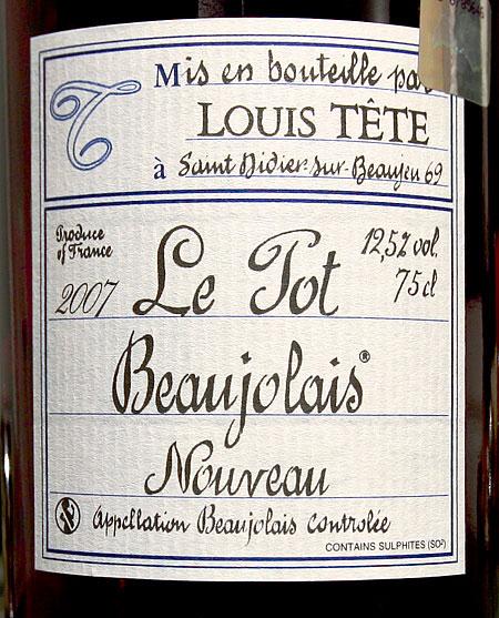 Lois Tete Le Tot Beaujolais