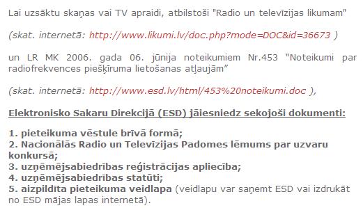 www.esd.lv Informācija potenciālajiem klientiem.