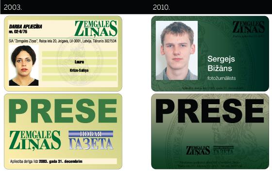 Zemgales Ziņas. Preses karte. 2003. un 2010. gads.